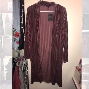 Velvet kimono cardigan